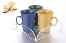 wholesale claer modern factory acrylic tray with handle