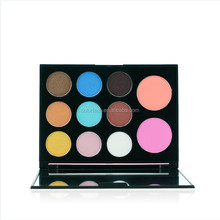 China factory wholesale 11 colors eyeshadows and blushers