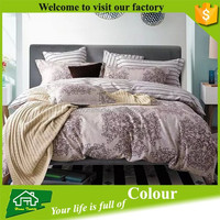 Home Textile High Thread Count Colorful 100% Cotton Russian Bed Linen