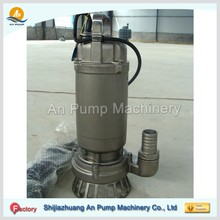 stainless steel 10hp electric centrifugal submersible sewage pump