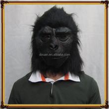 Animal head latex rubber mask gray chimpanzee masks