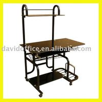 Glass-metal Office table DW-8008