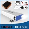 ONBO multi-function 12000mAh portable jump starter power bank 12v mini battery booster car jump starter for usb car charger