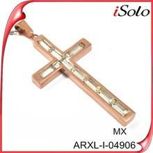 Steel Rose Gold Greek Cross Pendant Jewelry CZ Inlay 6