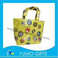 child design printed shopping resealable pouch non woven bag