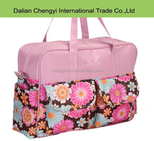 large capacity flower fashion 420D baby diaper Bags