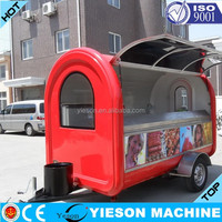 Yieson Made Hot Selling Street Vending Carts/Food truck for sale in china Mobile Fast Kiosk/Fast Mobile Food Trailer YS-FV300