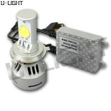 high brightness motorcycle led lighting 72w 6400lm H13/9008 H/L LED Headlight bulbs Replaces Halogen & HID Bulbs