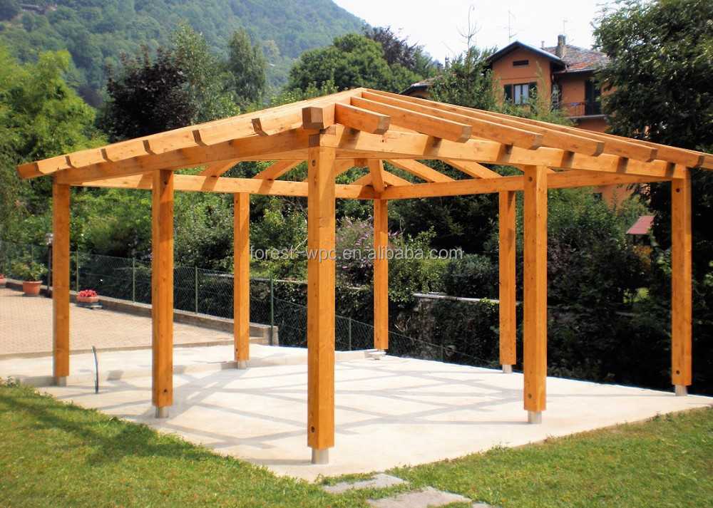 grande pavillon ext rieur en bois pergola gazebo pavillon. Black Bedroom Furniture Sets. Home Design Ideas