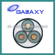 3*35mm2 HV/MV/LV insulated steel tape 45mm2 PVC armoured power cable