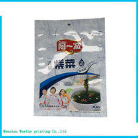 Heat seal custom printed plastic food packaging bag with design for spice