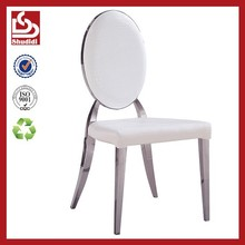 Shudidi crocodile leather louis ghost chair with stainless steel frame