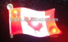 Led flashing flag pin