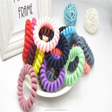 100% Real Picture 2015 Girl Baby Women Hair Elastic Ties Plastic Hair Rope Fashion Mix Wholesale 100pcs Assorted Phone Wire Hair