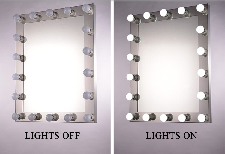 makeup mirror with led lights for beauty salon buy hollywood mirror. Black Bedroom Furniture Sets. Home Design Ideas