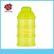 Portable attractive designs baby milk powder container ,three layers milk box A-1016