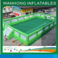 Soapy football pitch/inflatable water soccer court/inflatable water football pitch hot sale
