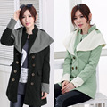 moda otoñoinvierno de gran contraste de solapa doble charretera prendas de abrigo las mujeres g0711 abrigos