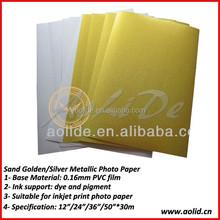 Glossy Golden Inkjet Metallic Photo Paper