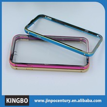 China supplier aluminum alloy frame+acrylic back slice bumper cases phone covers case for Iphone 6 case