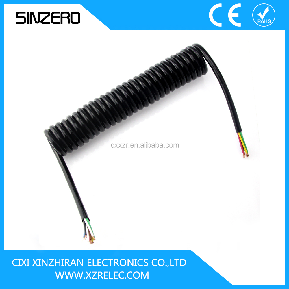 Truckload Of Electric Wire : Core trailer cable electrical spring spiral coiled