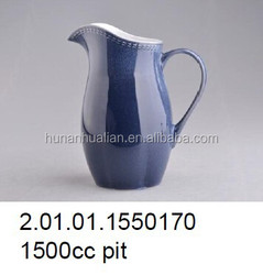 2014 hot-saled Japanese Style Jingdezhen 1500CC blue color stoneware pitcher