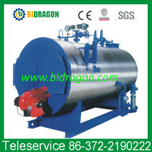 horizontal oil and gas fired hot water boiler