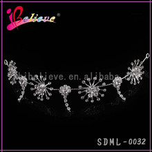 Crazy hot sale in Indian clear diamonds bling hair ornament piece hairband for wedding (SDML-0032)