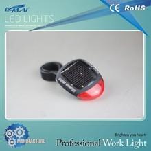 Long lifespan plastic solar 2 led bicycle light