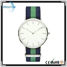 Luxury brands japanese movement GL20 Mineral glass men hand minimalist watc with leather or nylon strap