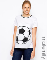 clothes for pregnant women with football print front