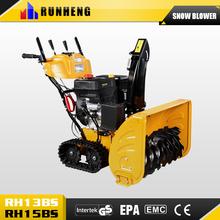 6.5hp 4.8KW/196cc 2 wheels mini snow thrower ,EPA EURO-2 snow cleaning machine garden tool equipment