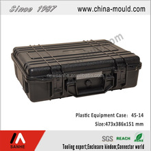 plastic shockproof electronic equipment tool case