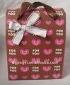 moda almoço papel caixa de presente para as crianças com punho confortável para a venda quente na china