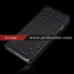 Card Holder Genuine Leather Flip Case For Iphone 6s Plus , Wallet Stand Phone Case For Iphone 6s Plus