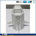 Disney auditados& bsci fábrica de la pintura de bricolaje juguete de papel de nave espacial