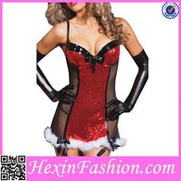 Red Transparent Funny Women Factory Christmas Costume