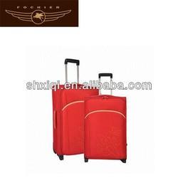 polyester cheap 2014 fashion soft travel trolley luggage