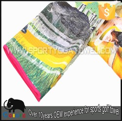 Made in china souvenir tri-folded golf towel for golf clubs