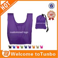 Bag promotional logo customized wholesale cheap folded textile shopping bag