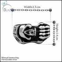 latest cheap wholesale men stainless steel skull rings