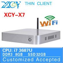 Computer Fan Thin Client Mini PC 1.6Ghz Desktop Computer Intel Core i7 X7 CPU random delivery 8G RAM 32G SSD Window 8.1