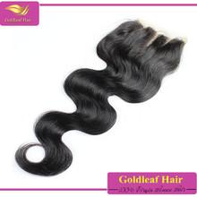large stock 6a 100% density 4*4 human hair lace closure