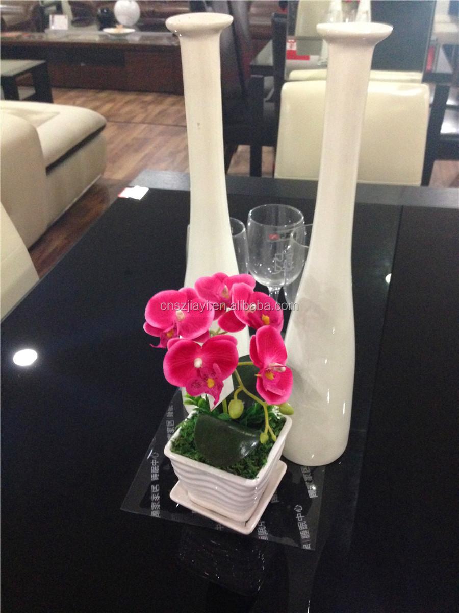 Hoge kwaliteit groothandel rode orchidee bloemen in wit keramische ...