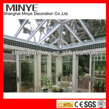Popular Aluminum Garden Sunroom with tempered glass, laminated glass