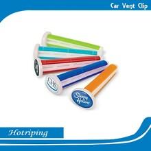 China promote printing item smelling car wash freshener vent clip