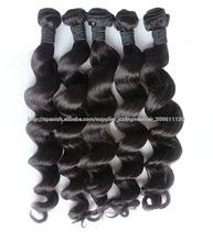 6a grado peruano ola suelto cabello virgen sin procesar productos de cabello humano virgen peruana onda pelo suelto