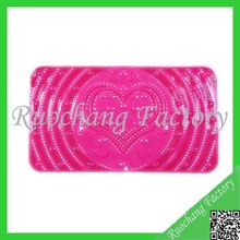 Rose red ODM anti-slip pvc bath mat shower mat