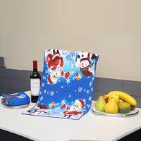 Wholesale microfiber Christmas tea towel standard tea towel size