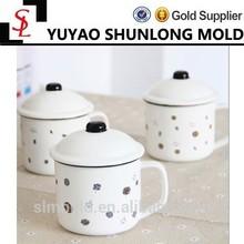 Simple belle petite capacité émail tasse givré matte Cartoon petit dessin en céramique tasse de café